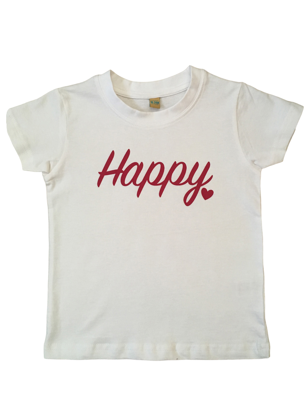 Childrens – White Happy T-shirt 18-24 Months