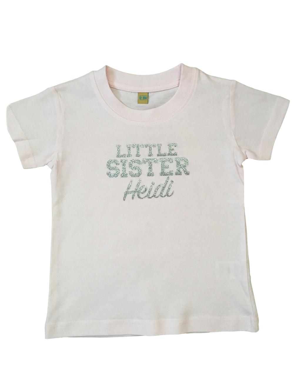 Personalised Little Sister Tshirt