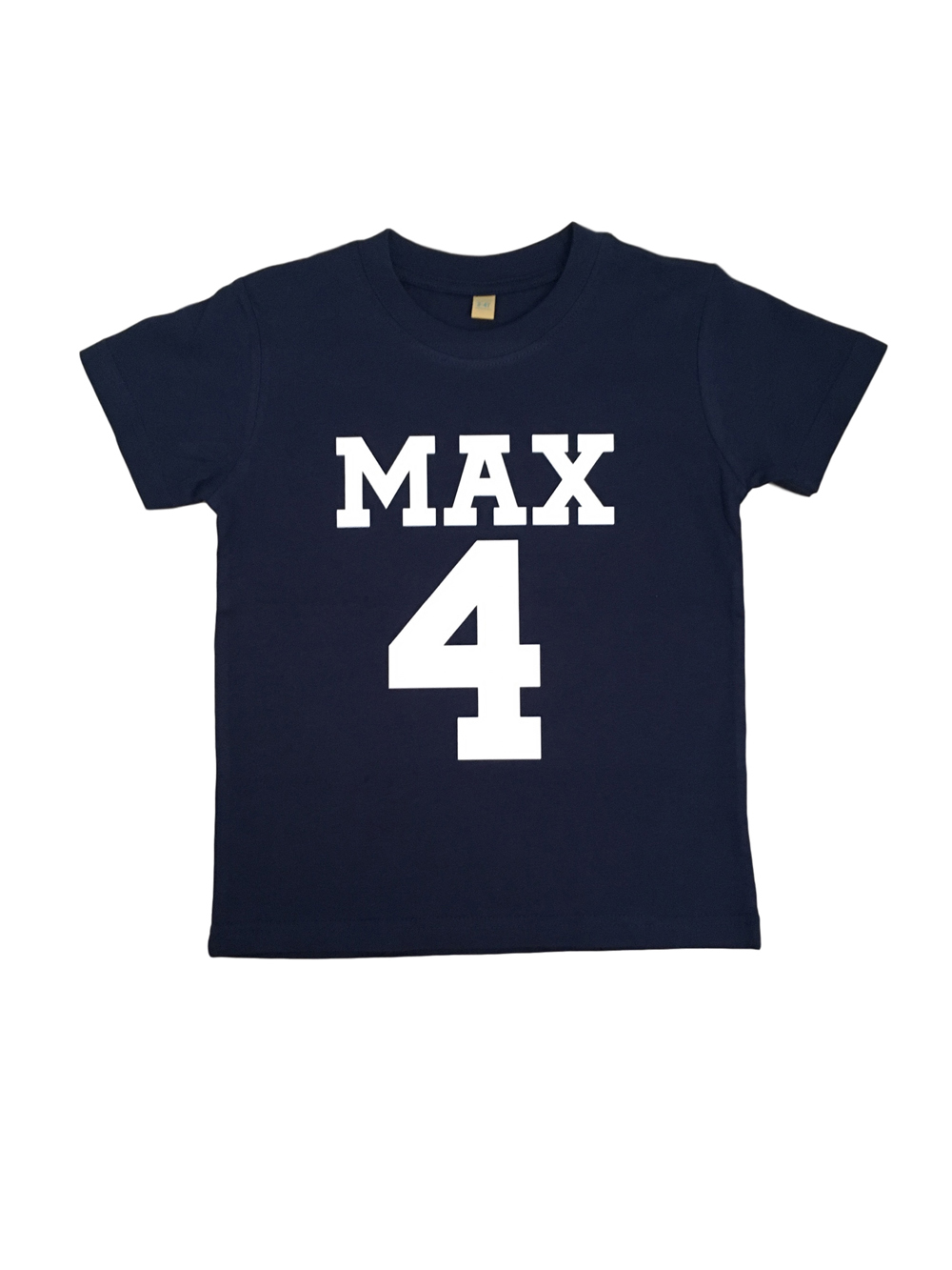 Name And Number Personalised Tshirt – Navy