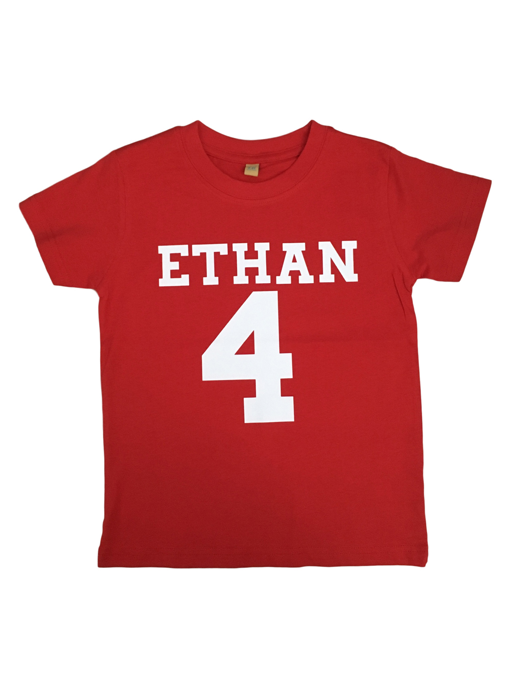 Name And Number Personalised Tshirt – Red