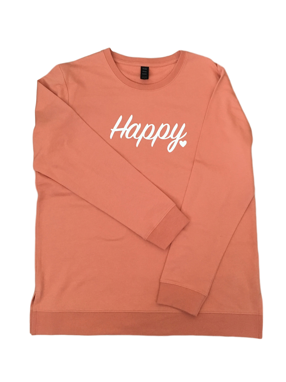 ADULT – Apricot Happy Sweatshirt – Medium