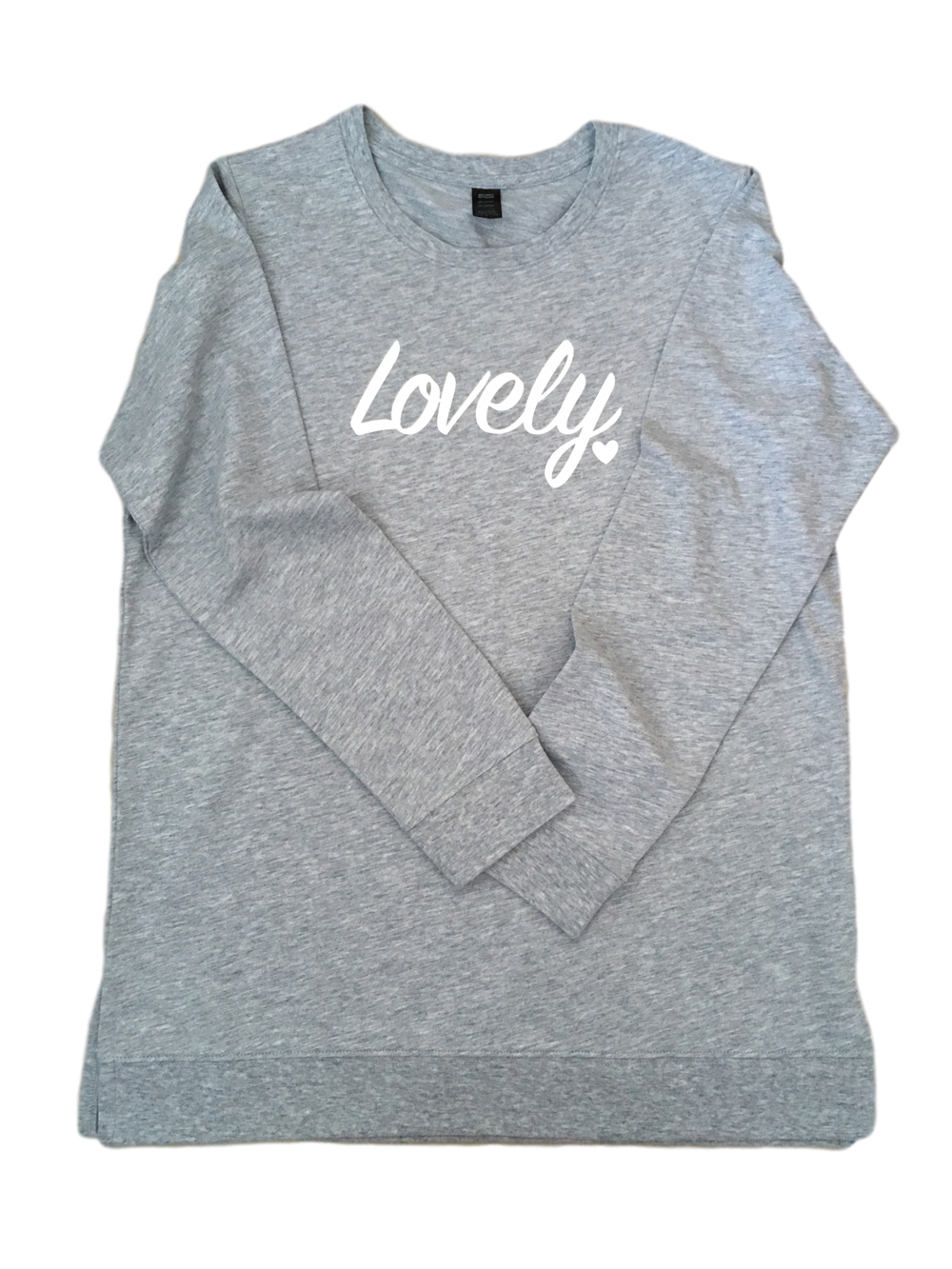 ADULT – Grey Lovely Sweatshirt – Small