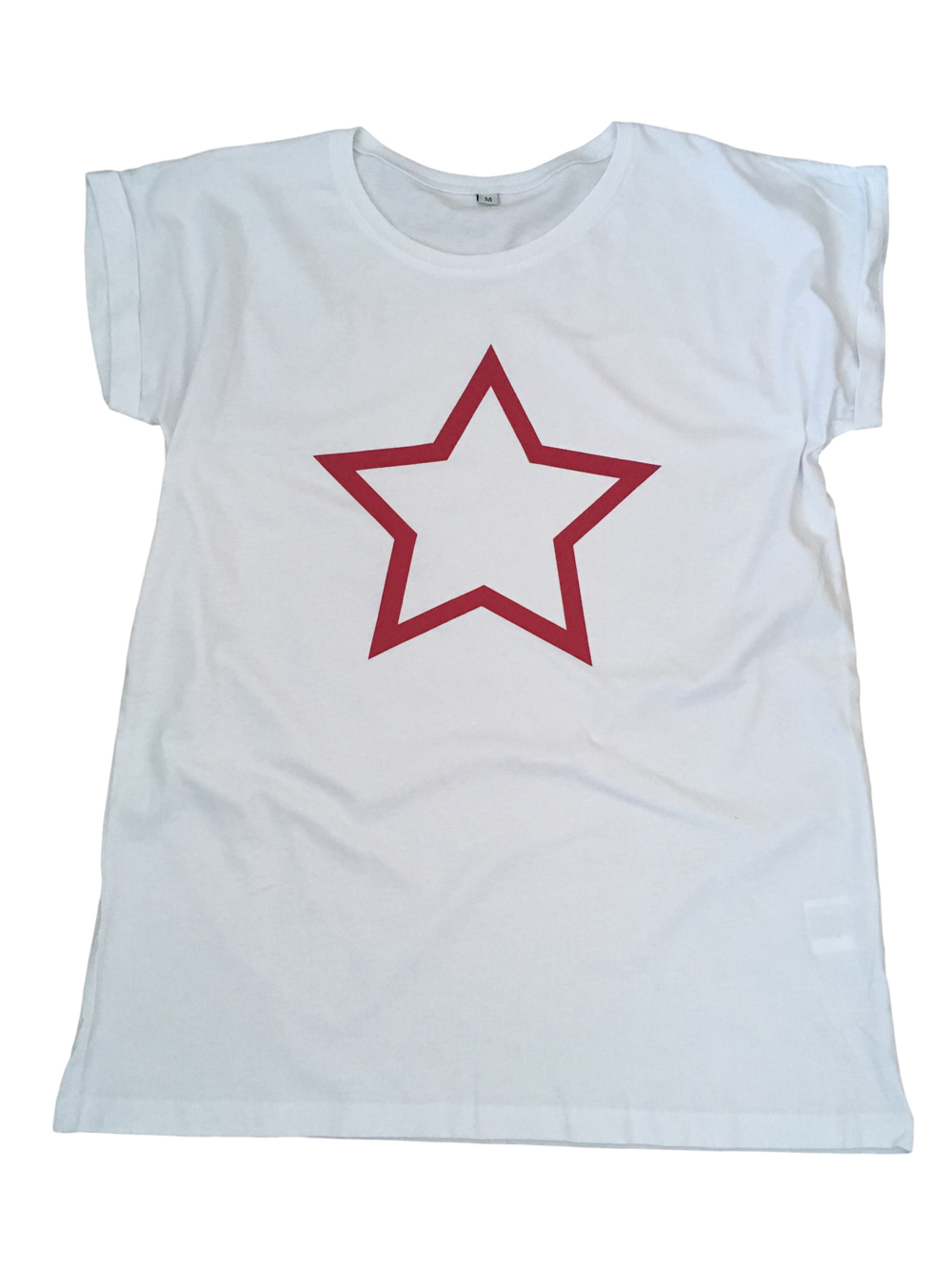 ADULT – White/pink Star T-shirt – Medium