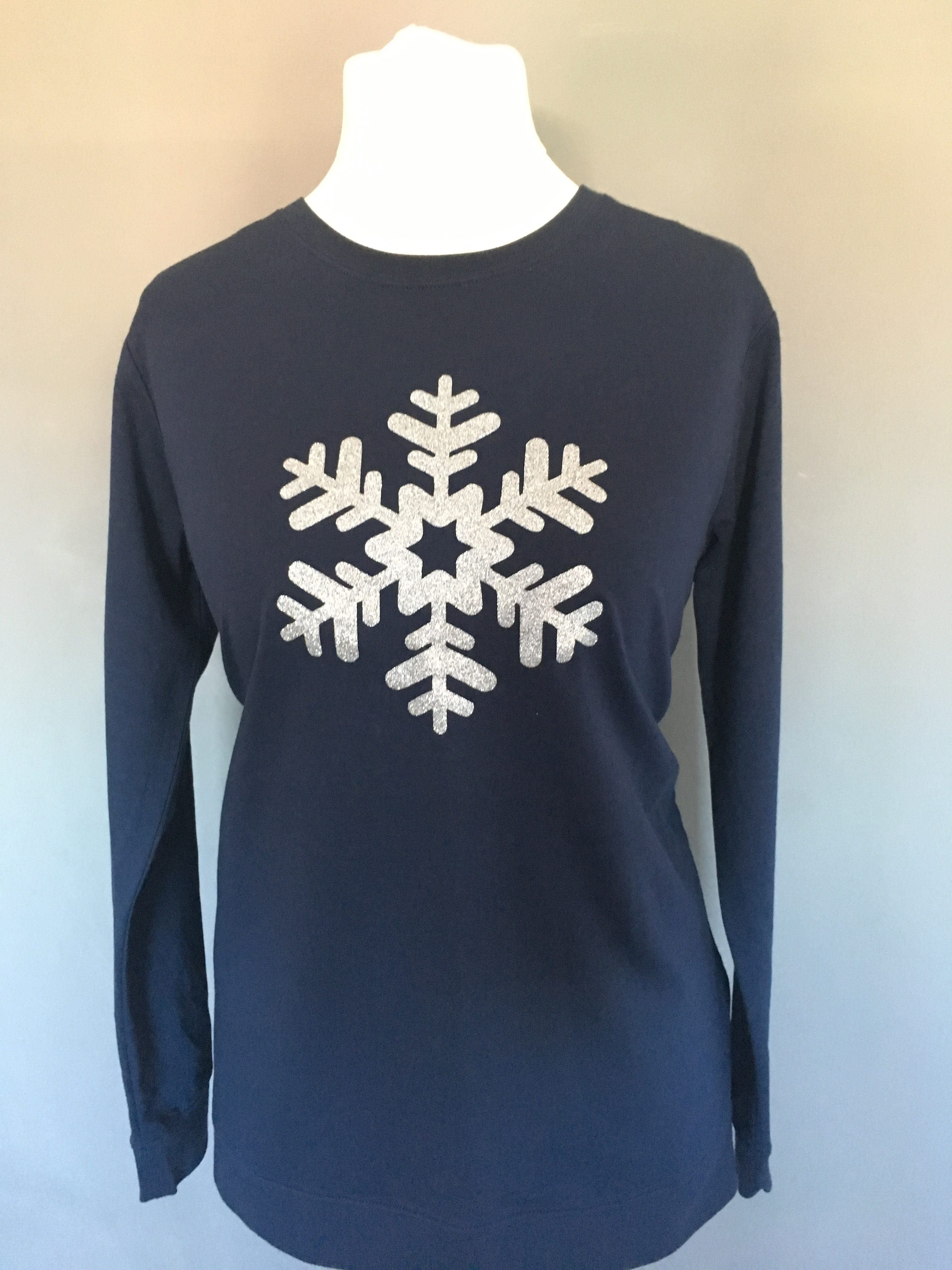 Glitter Snowflake Christmas Jumper