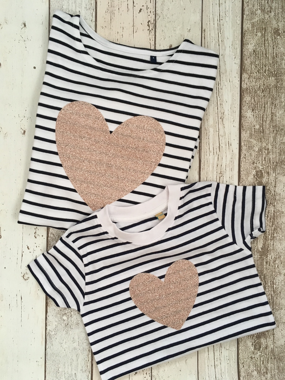 Stripe Heart – Mummy And Me Set