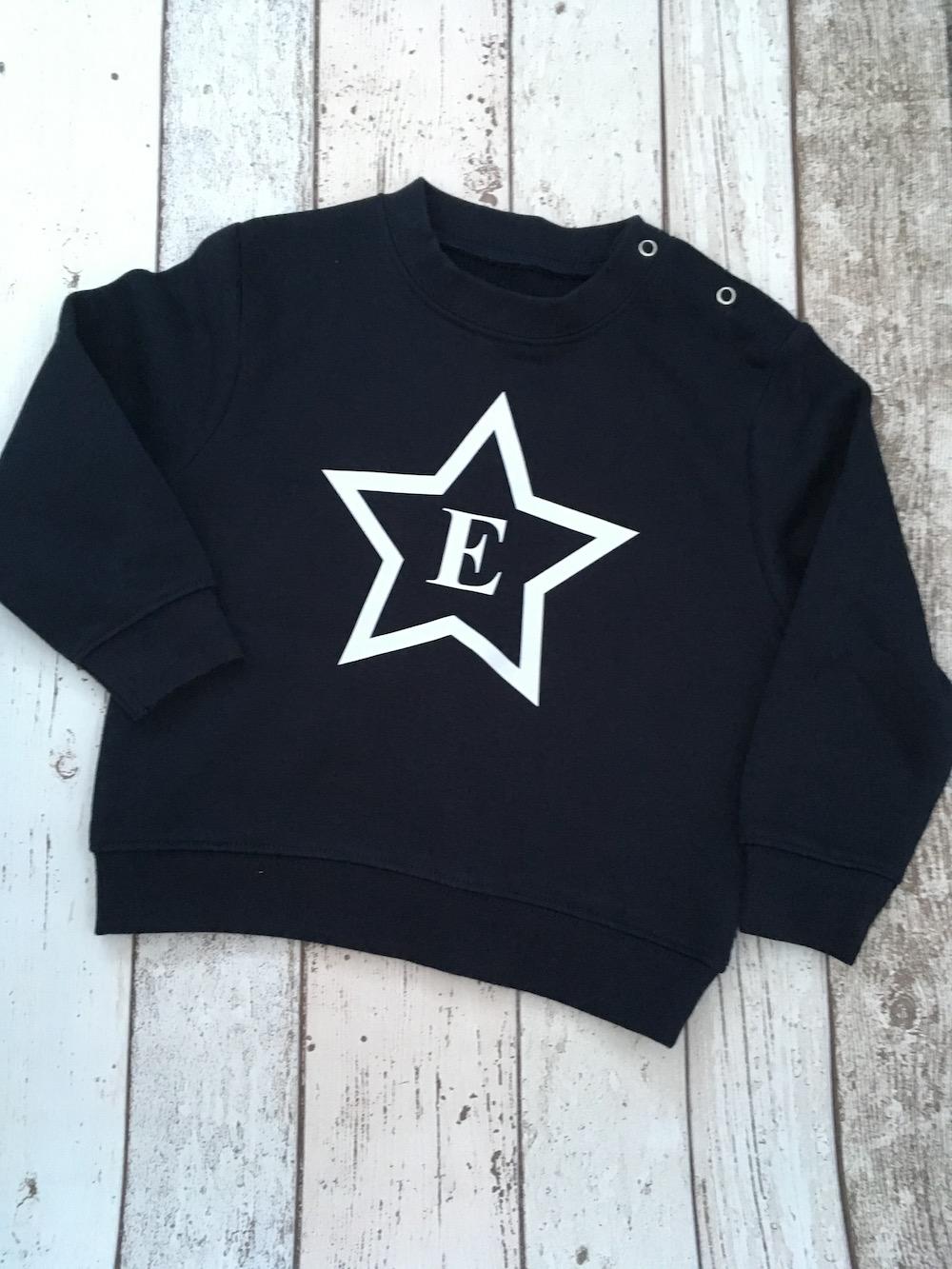 Star Initial Sweatshirt