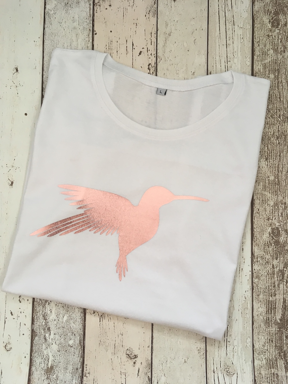 Rose Gold Hummingbird Tshirt