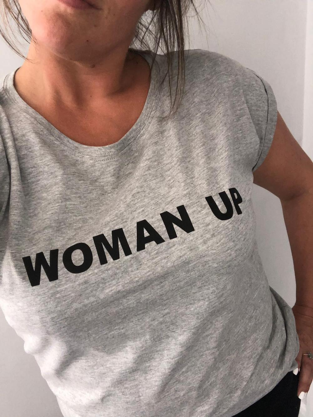Woman Up Slouch Fit Tshirt