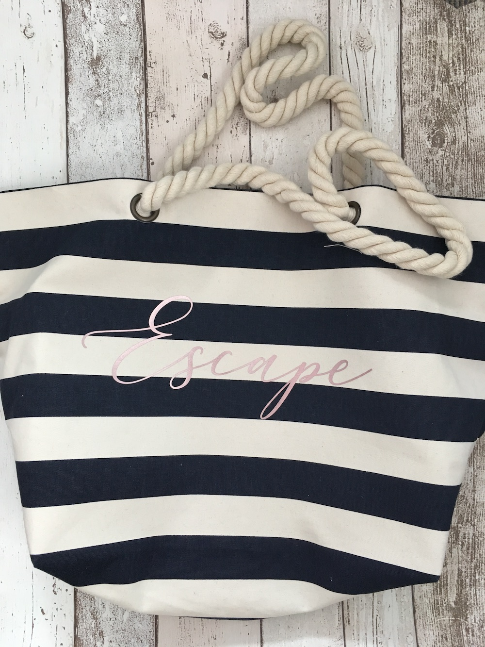 Escape Blue Stripe Large Bag