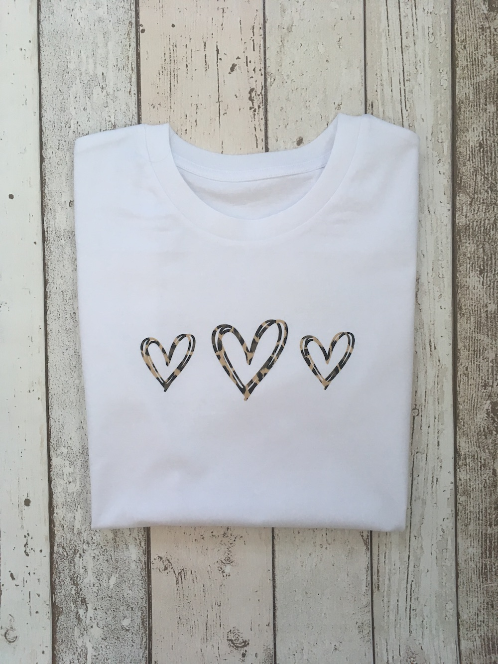 Triple Hearts Tshirt – White