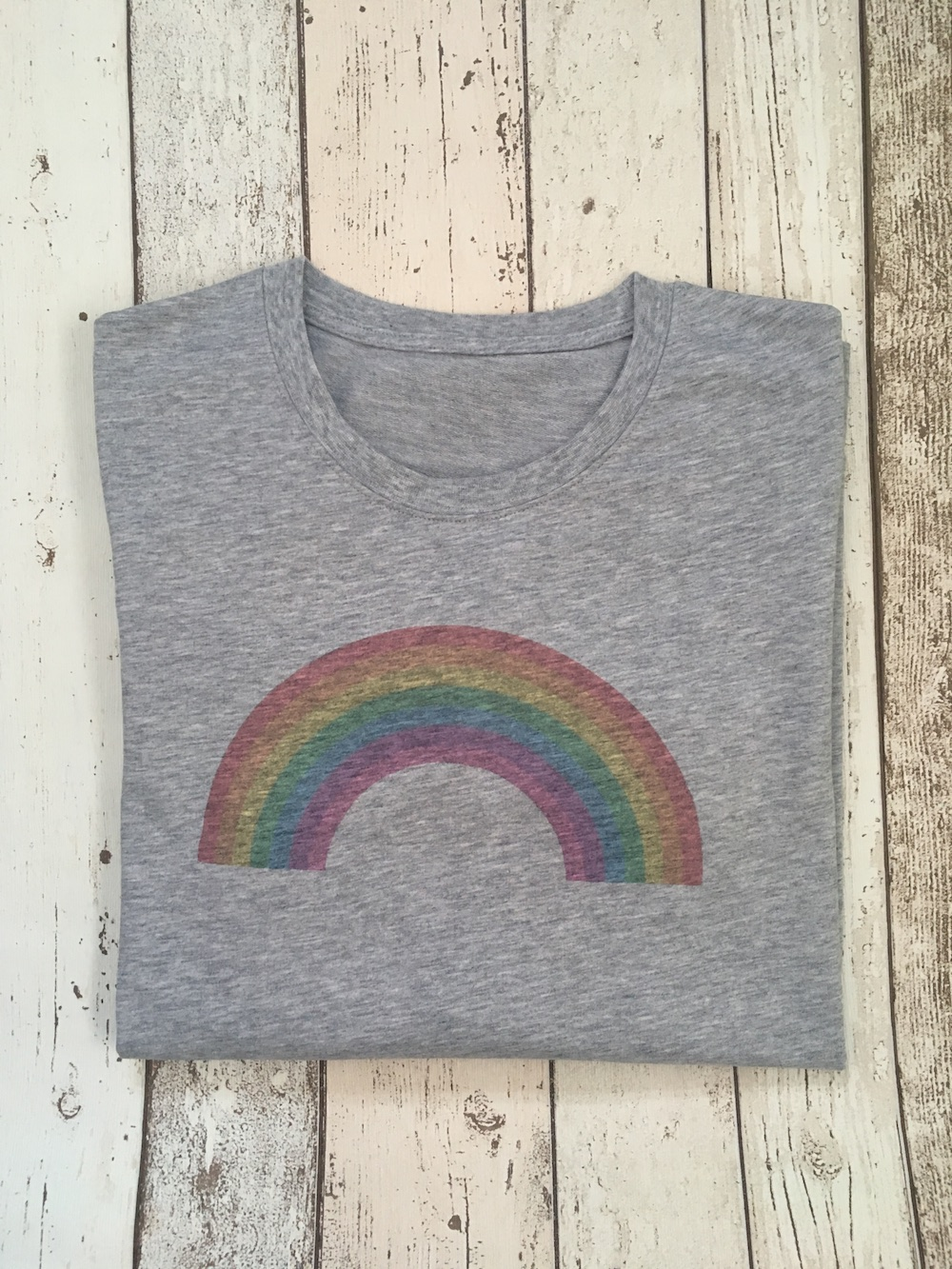 Rainbow Lightweight Jumper – Grey