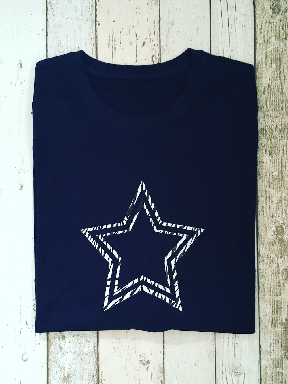 Zebra Star Lightweight Jumper – Navy