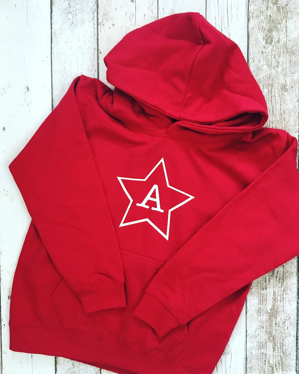 Initial Star Hoodie – Chilli Red