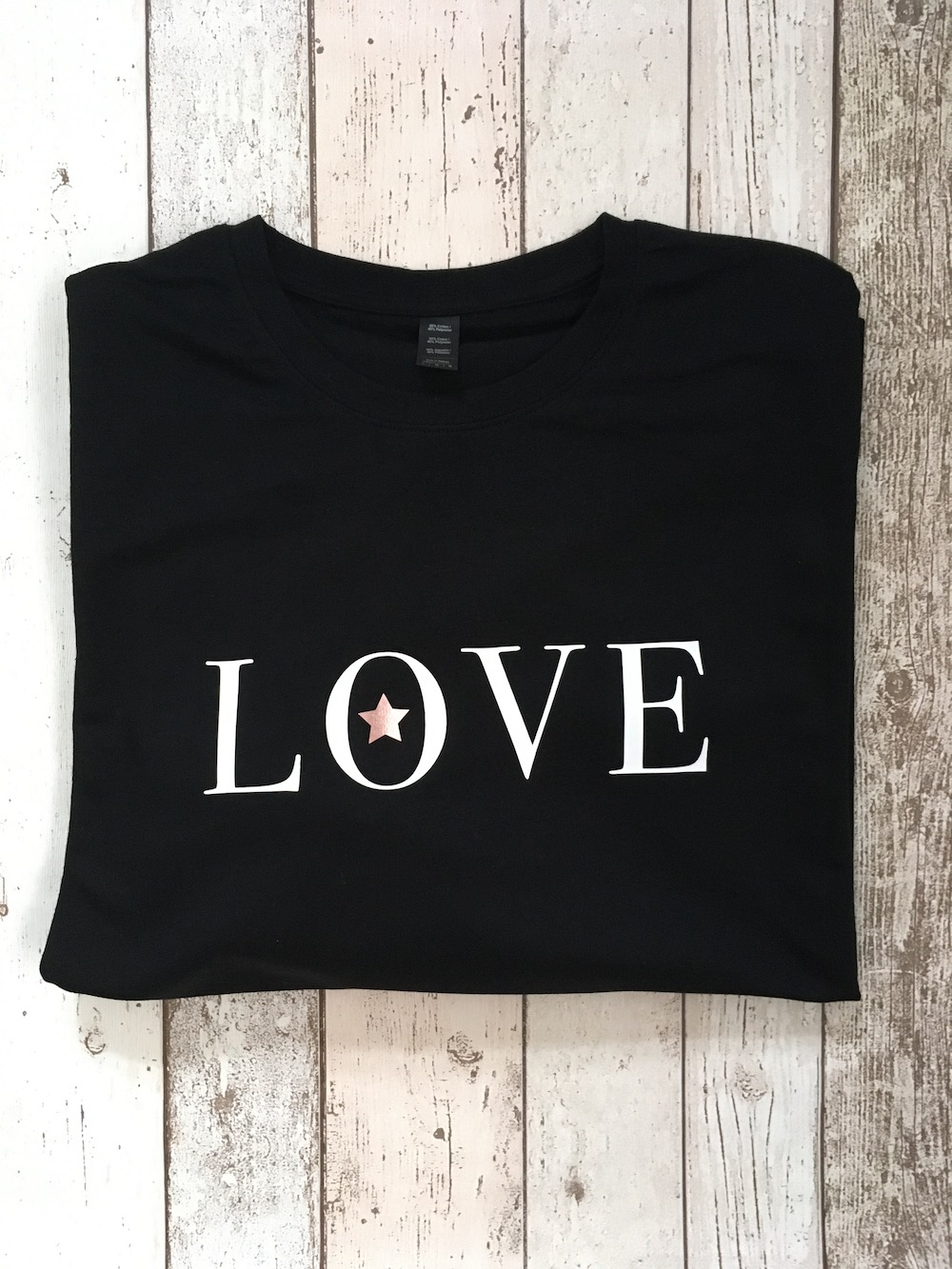 Love Star Lightweight Jumper – Black