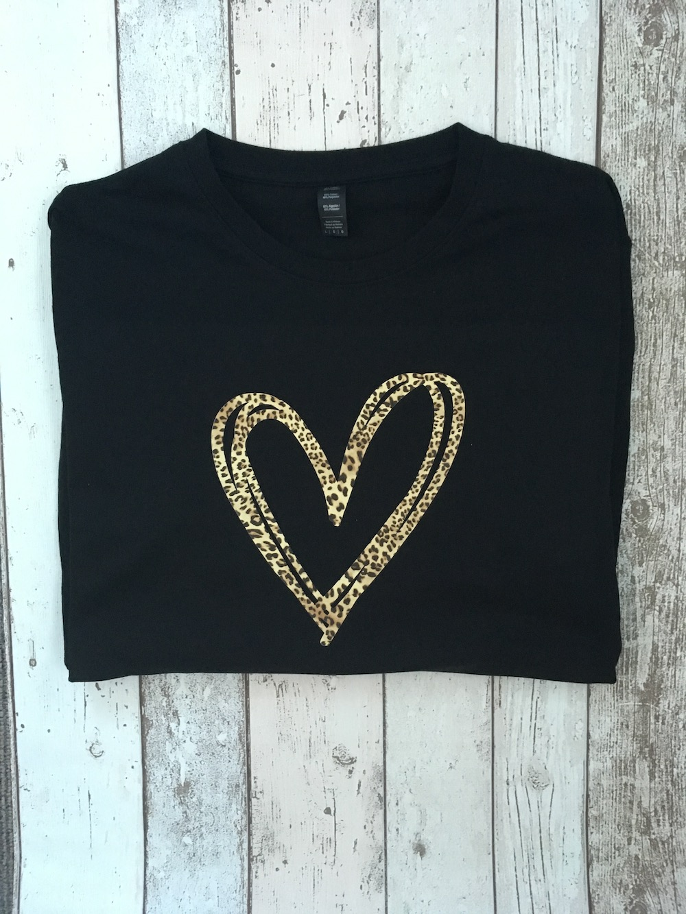 Leopard Heart Lightweight Jumper – Black
