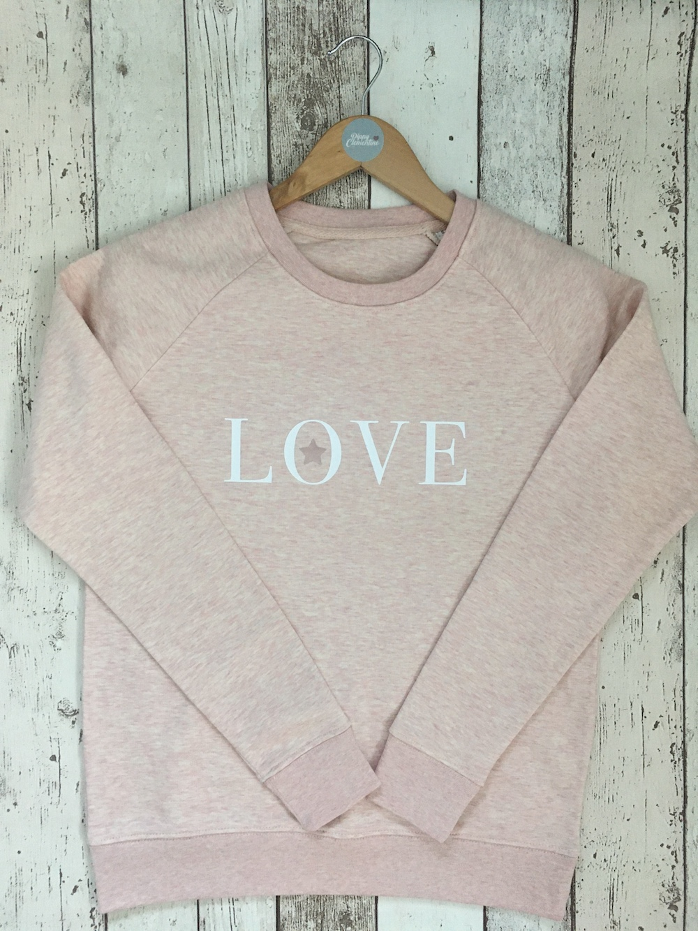 Love Star Super Soft Sweatshirt -Heather Pink