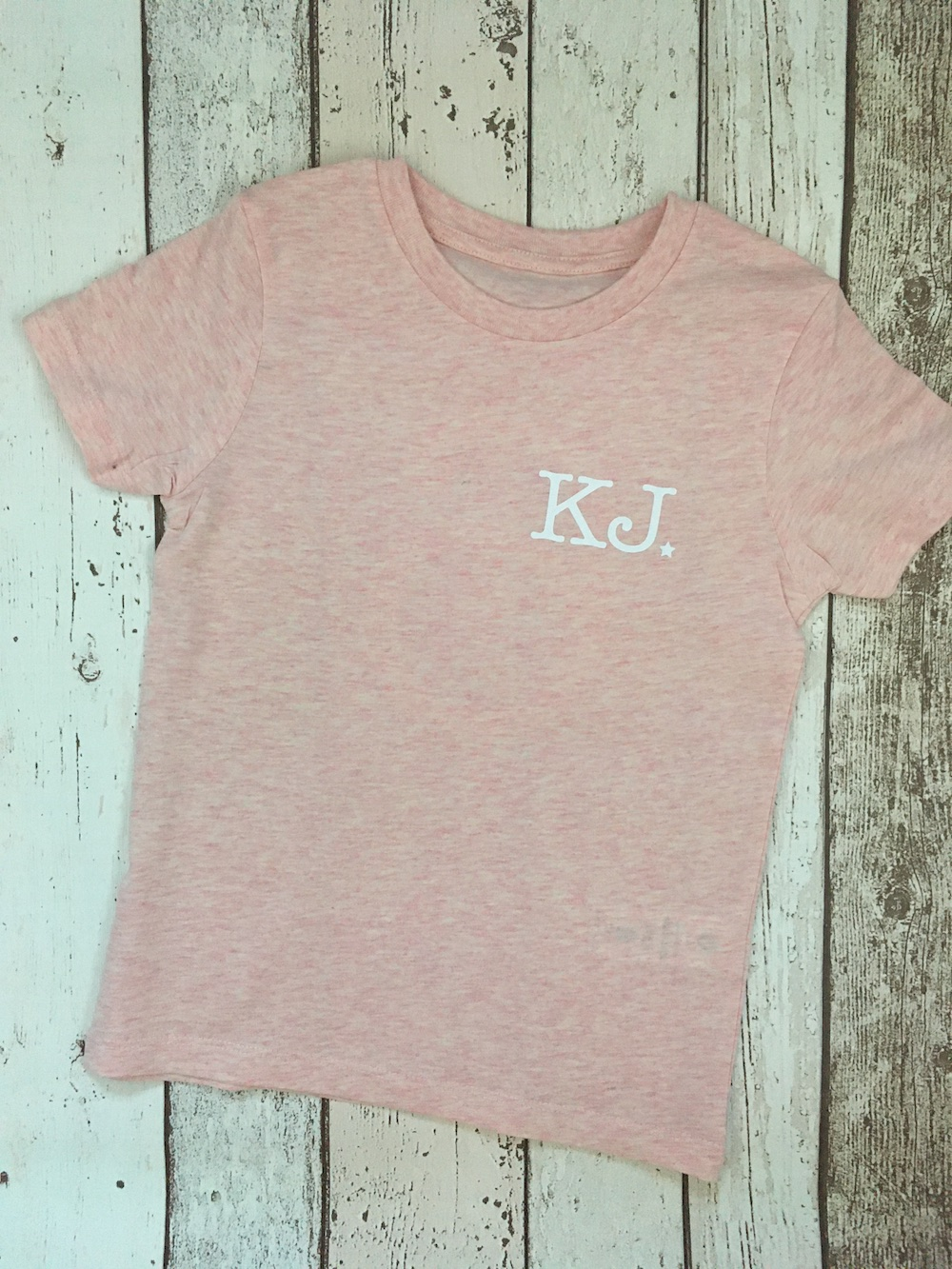 Initials Tshirt – Heather Pink