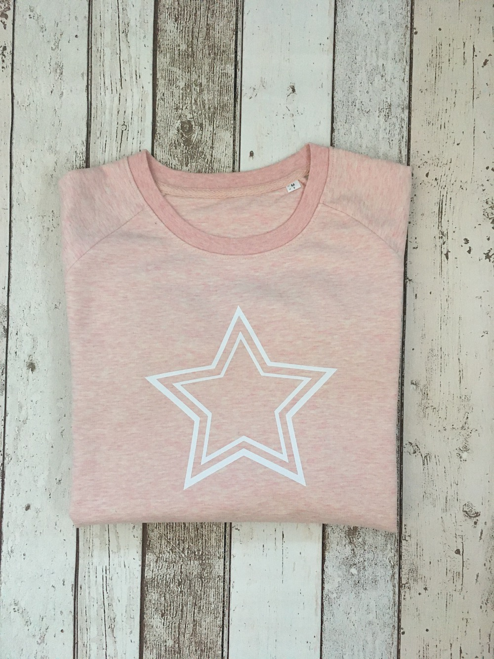 Double Star Super Soft Sweatshirt -Heather Pink