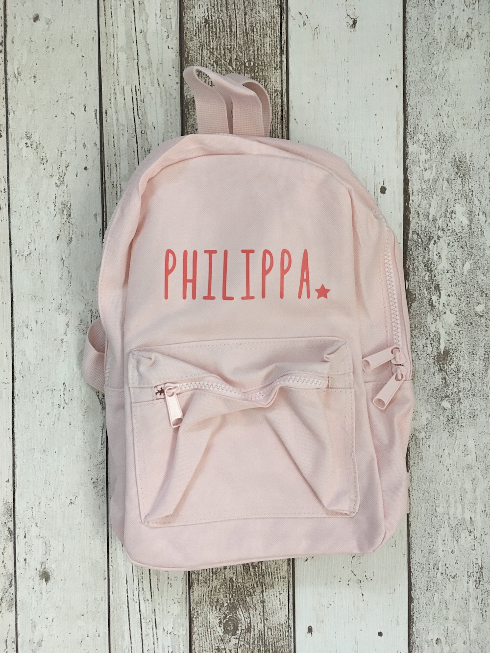 Childrens Personalised Rucksack – Pink