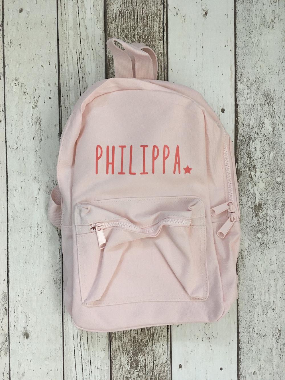 Childrens Personalised Rucksack – Pink