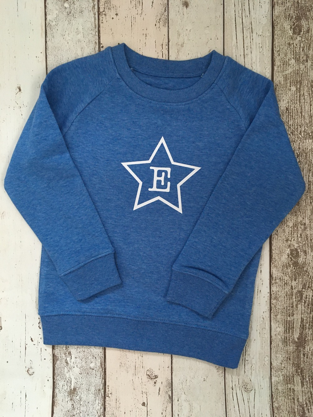 Initial Star Super Soft Sweatshirt – Heather Blue