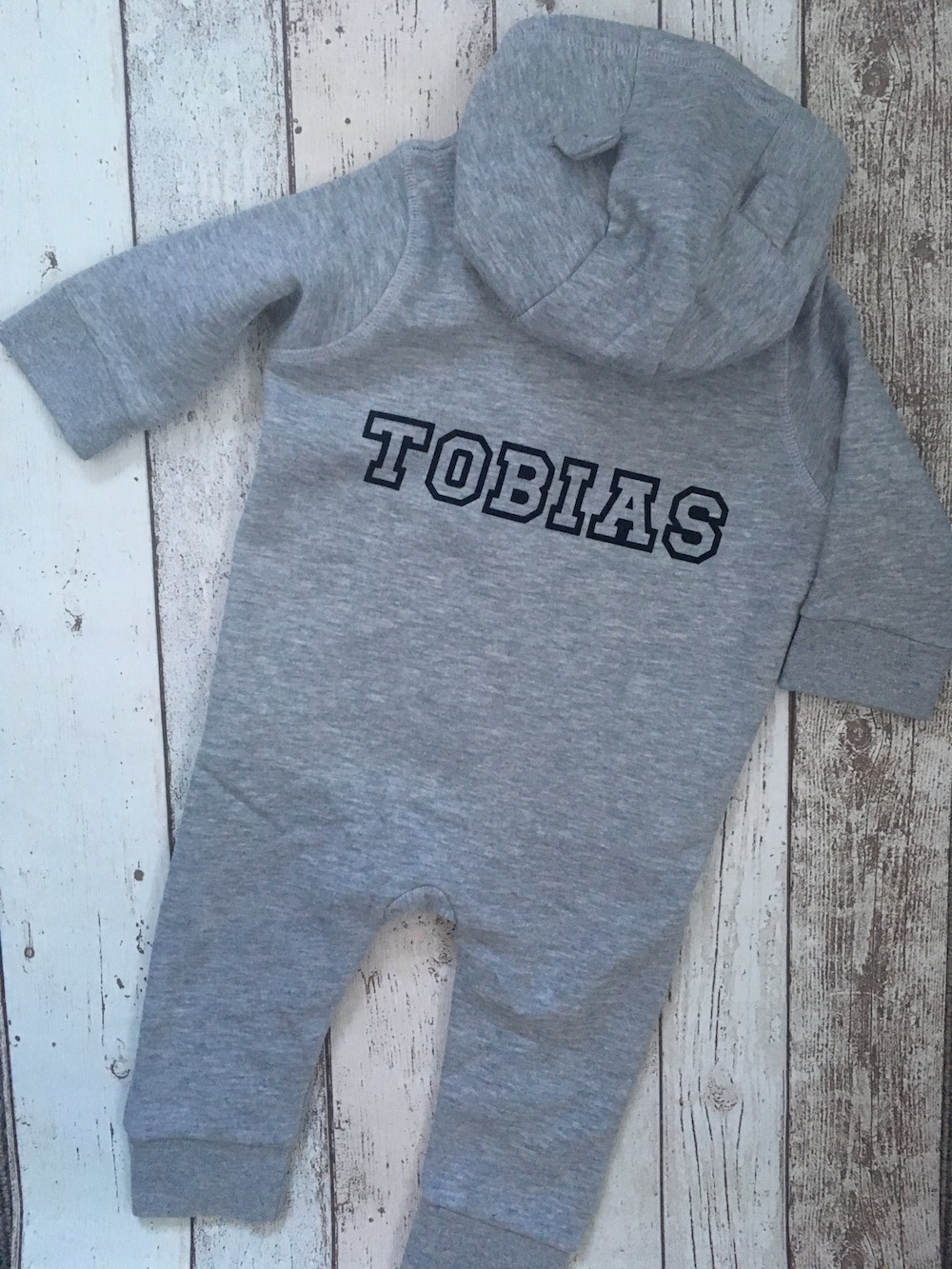 Personalised Onsie – Grey And Navy