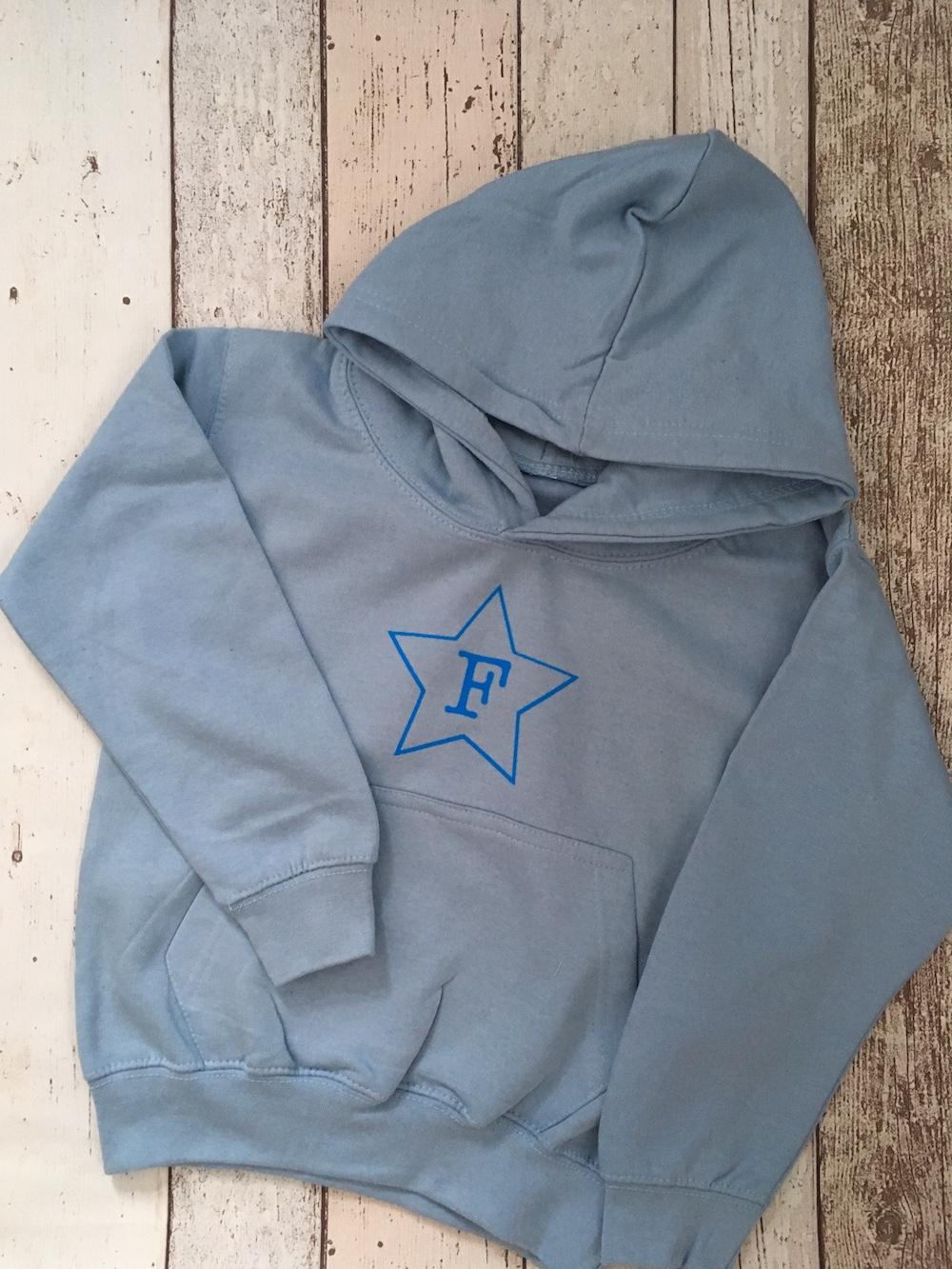 Initial Star Hoodie – SKY BLUE