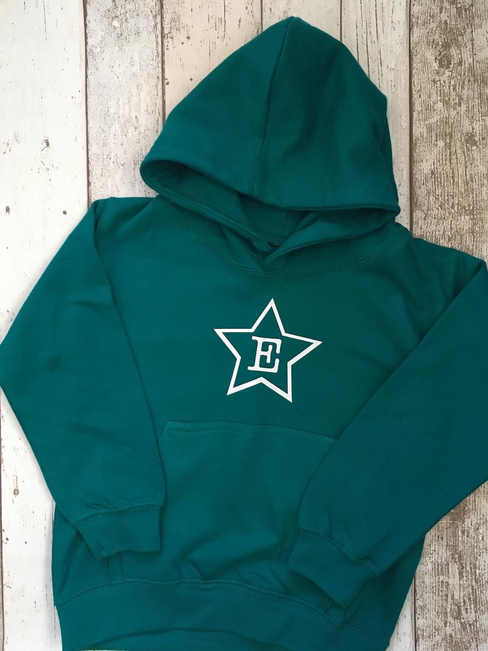 Initial Star Hoodie – JADE