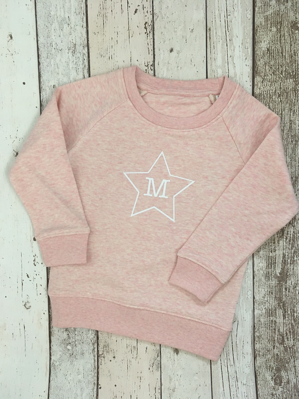 Initial Star Super Soft Sweatshirt – Heather Pink