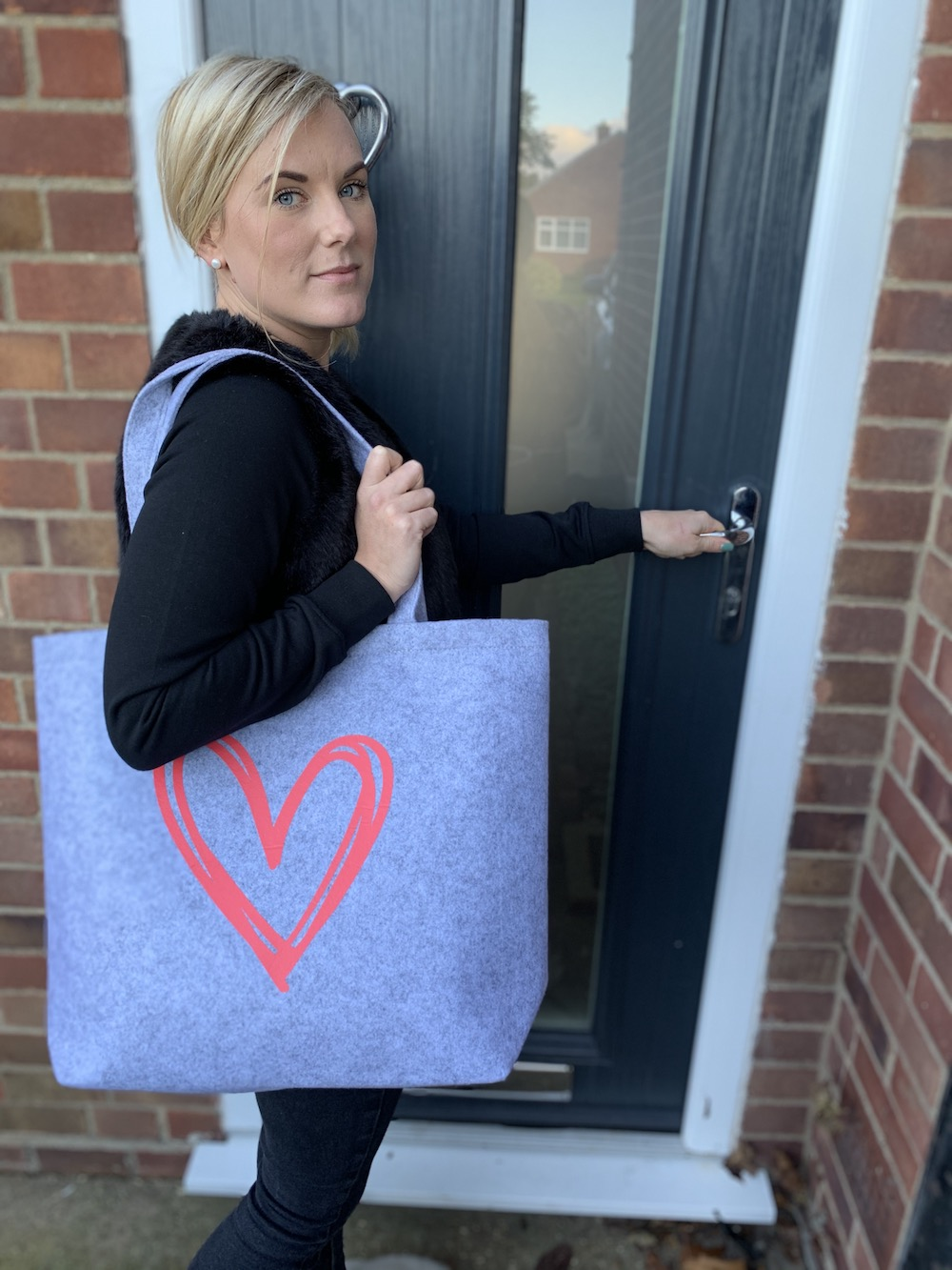 Felt Shopper Bag – Grey
