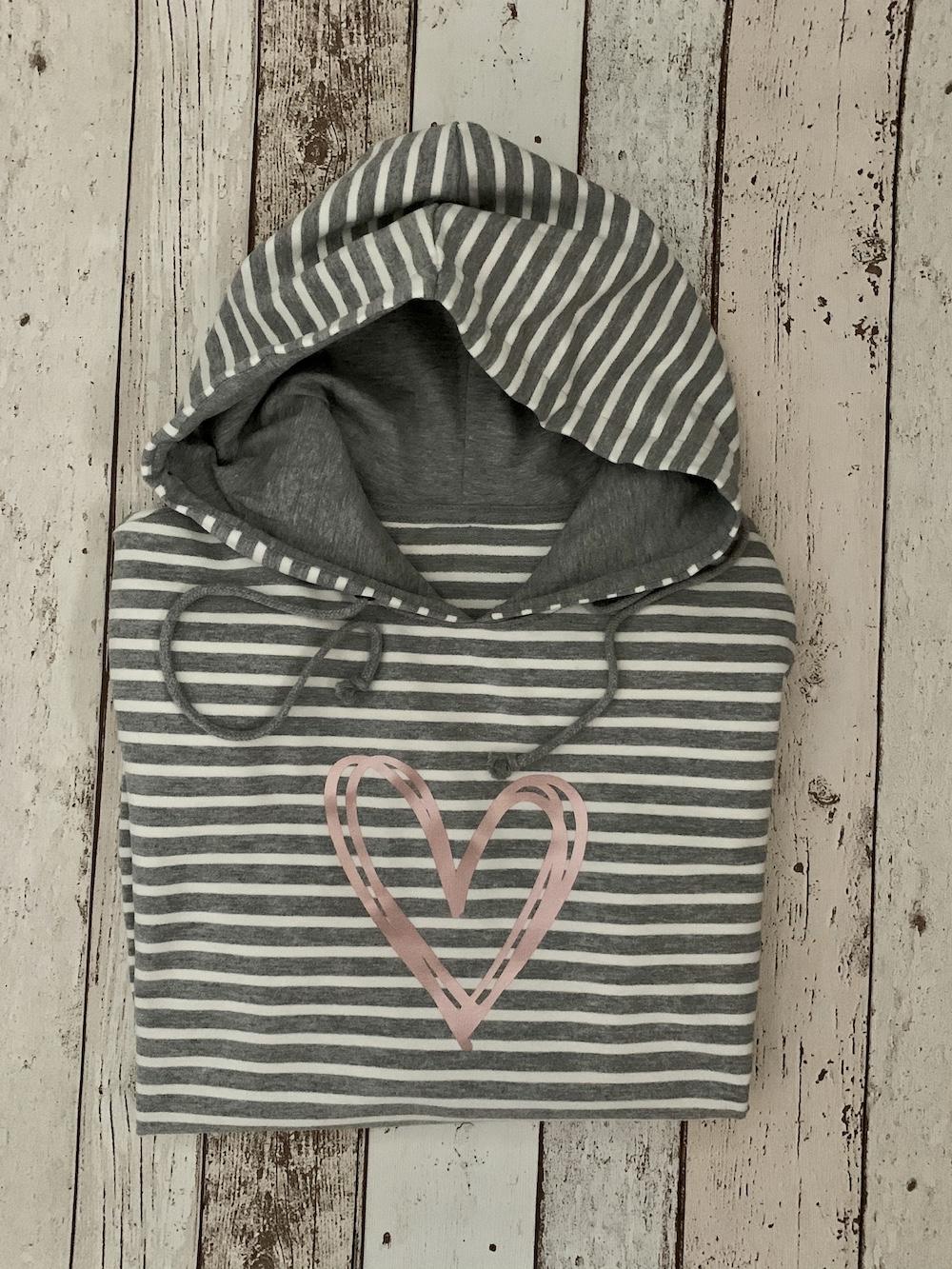 Stripy Hoodie – Heart