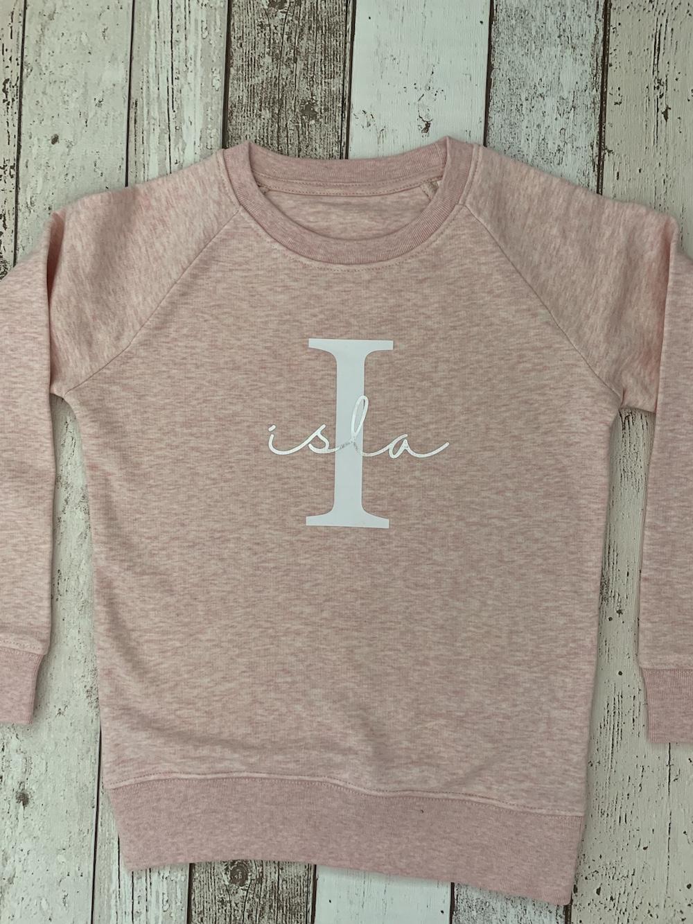 Pretty Initial Pink Sweatshirt – Children's Size