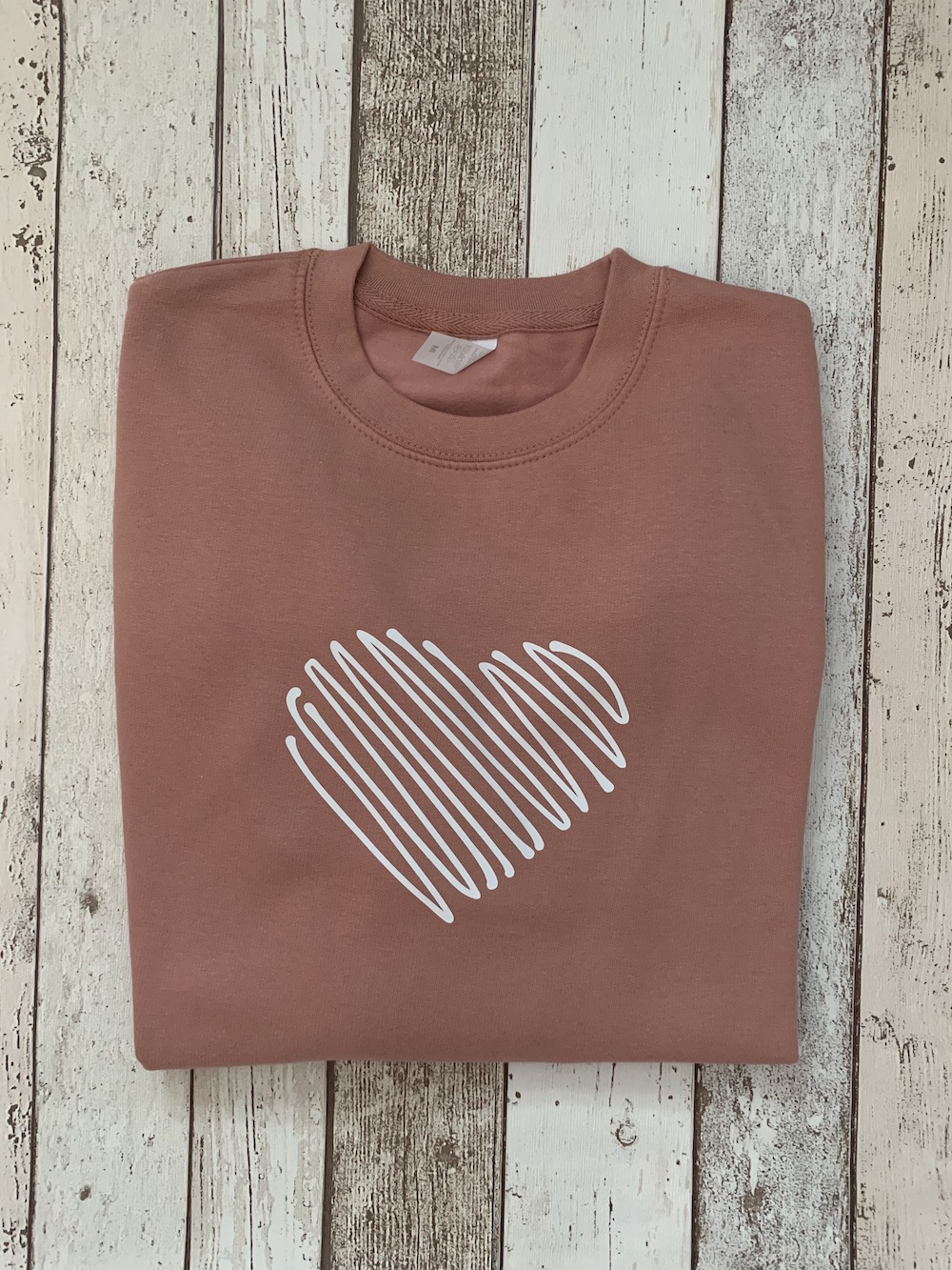 Scribble Heart – Boyfriend Fit Sweatshirt