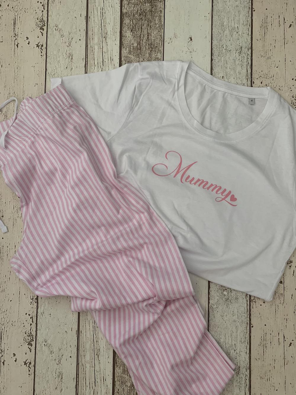 Womens Pyjamas – Pink Stripe – Size Medium