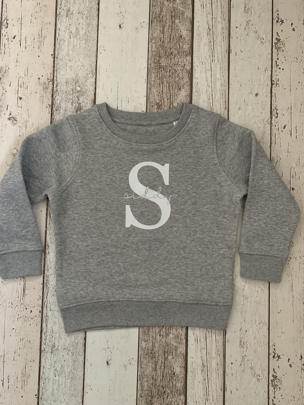 Initial Grey Sweatshirt – Children's Size