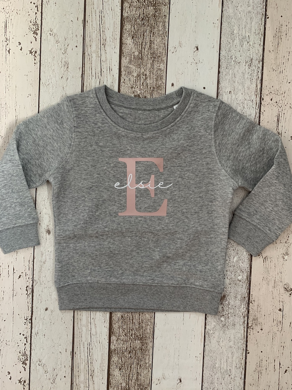 Pretty Initial Grey Sweatshirt – Children's Size
