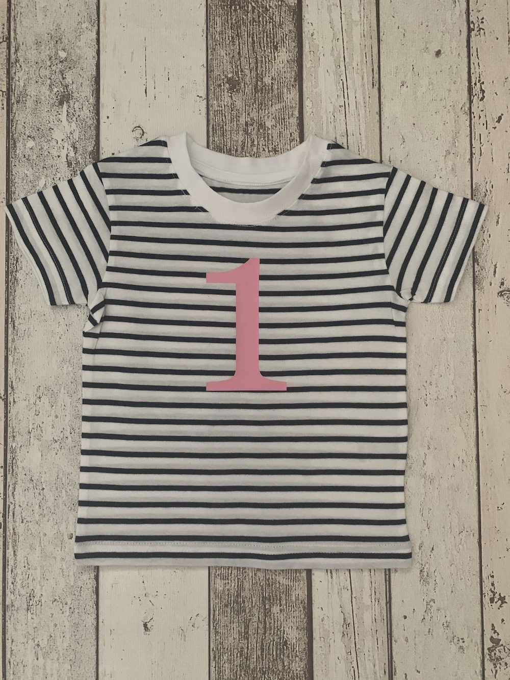 Number 1 Stripe Birthday T-shirt