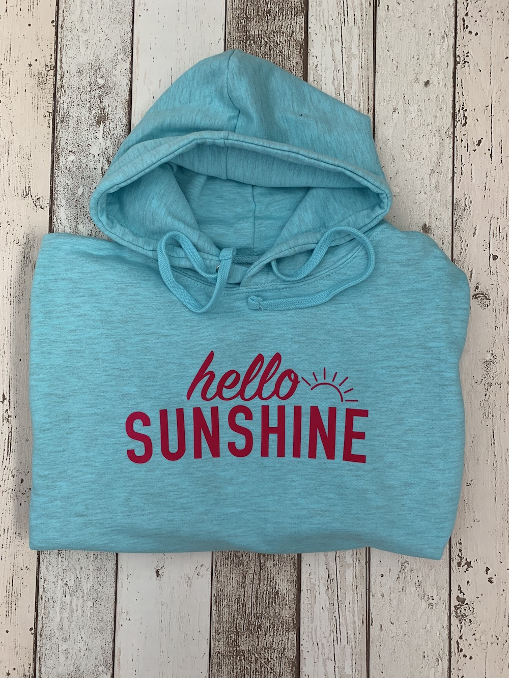 Hello Sunshine Lightweight Hoodie – Surf Blue And Pink