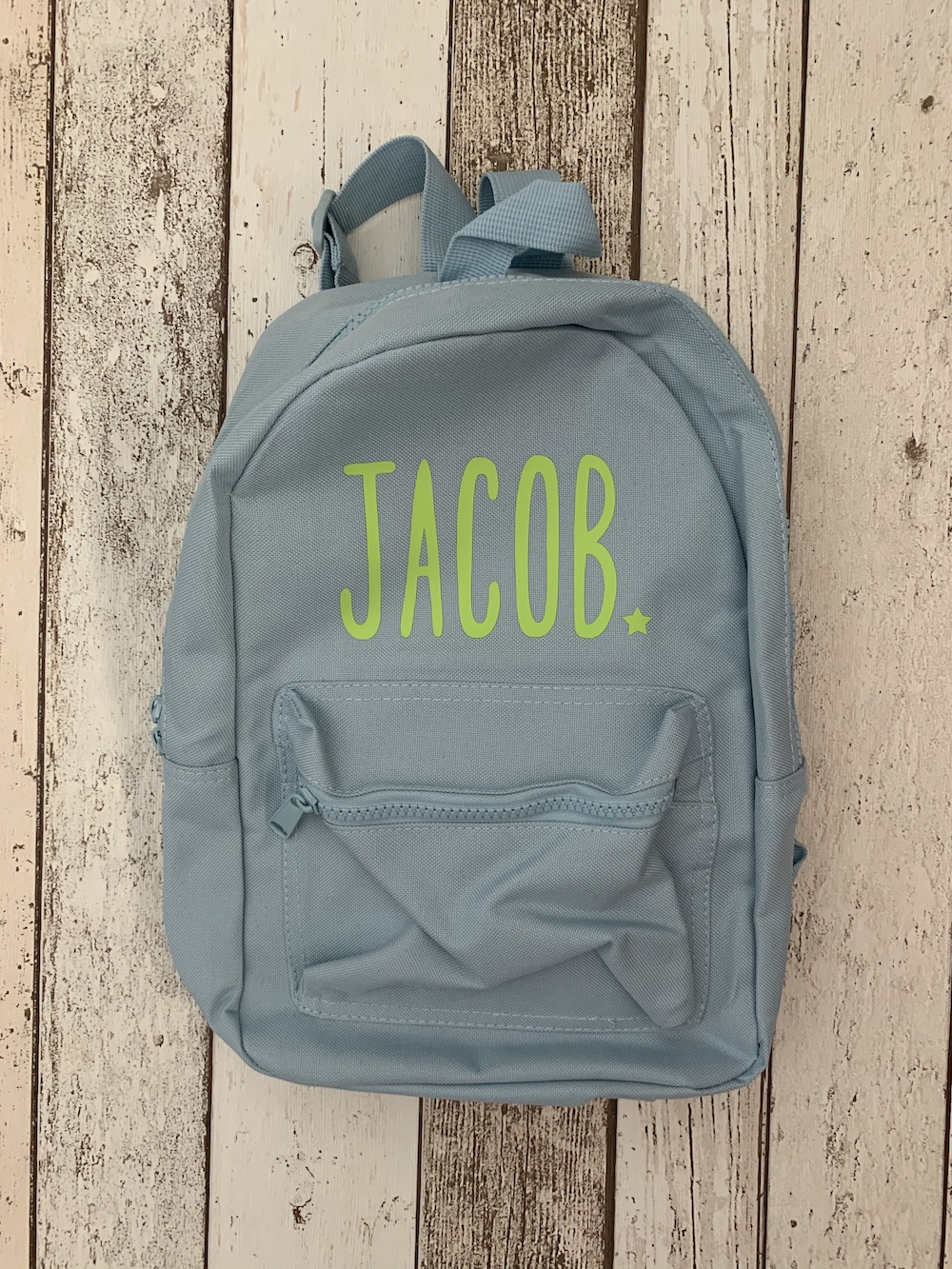 Childrens Personalised Rucksack – Blue And Green