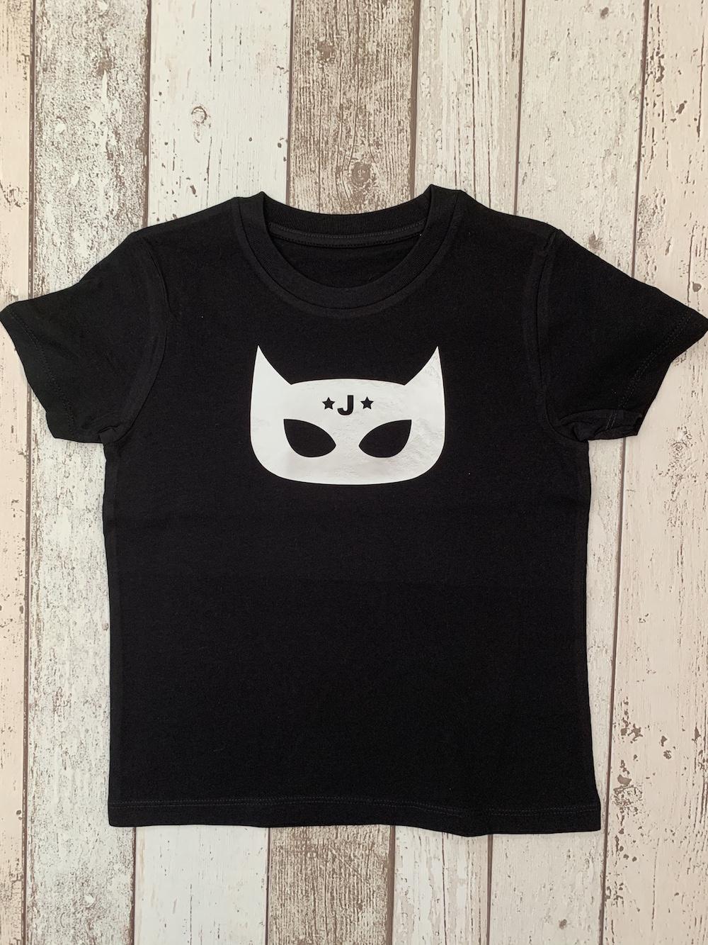 Superhero Personalised Tshirt – Black