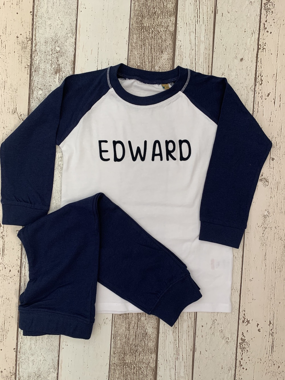 PERSONALISED Childrens Pyjamas – Blue