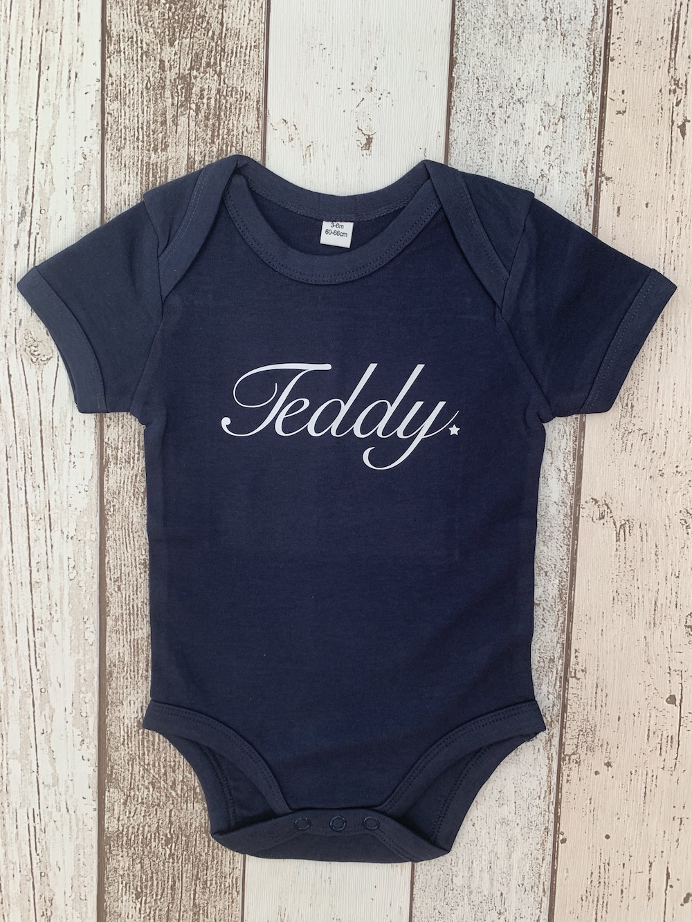 Baby Vest Short Sleeves – Navy