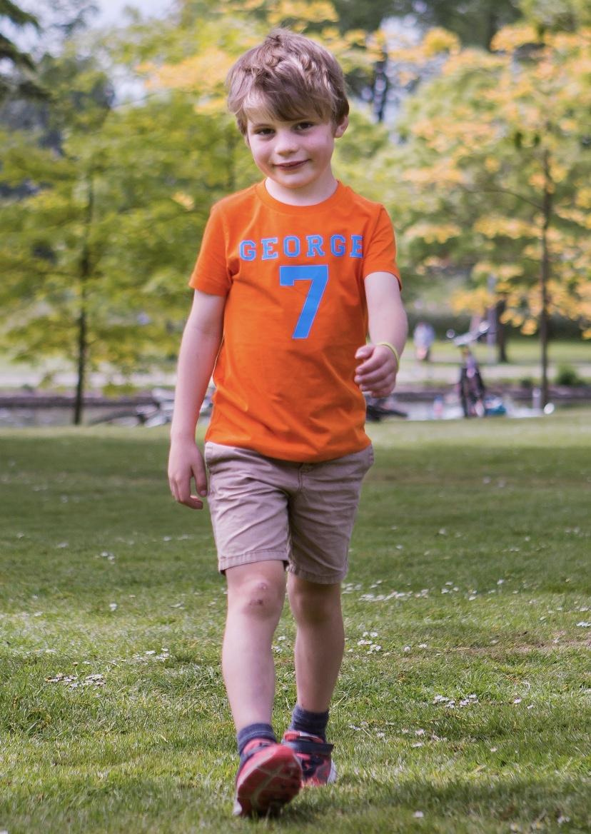 Name And Number Personalised Tshirt – Orange