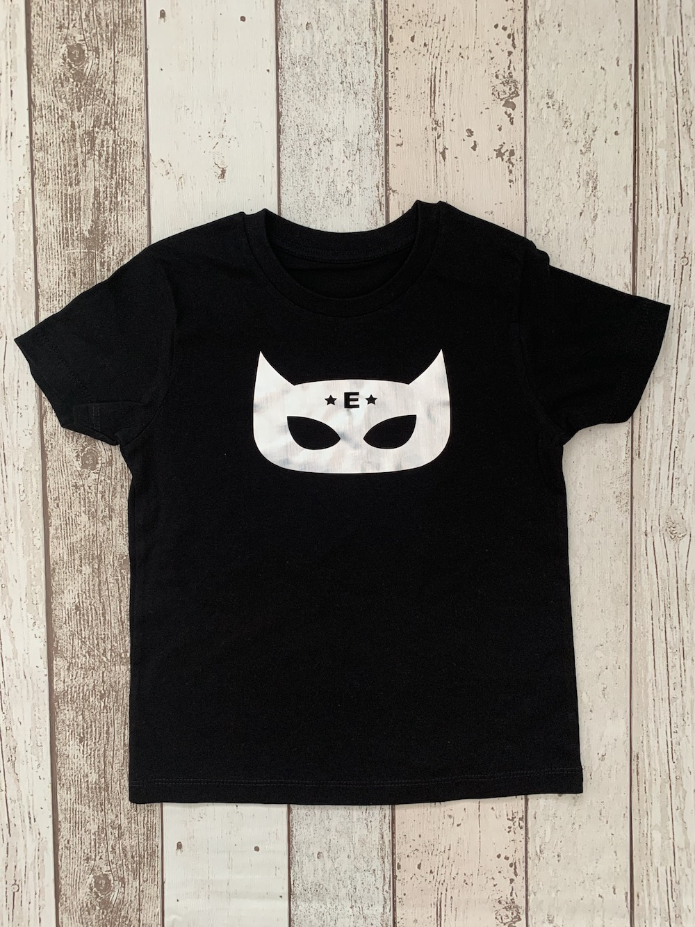 Superhero Personalised Tshirt – Black