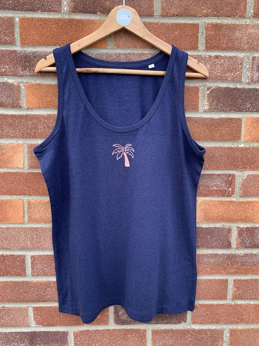 Palm Tree Vest – Navy And Rose Gold