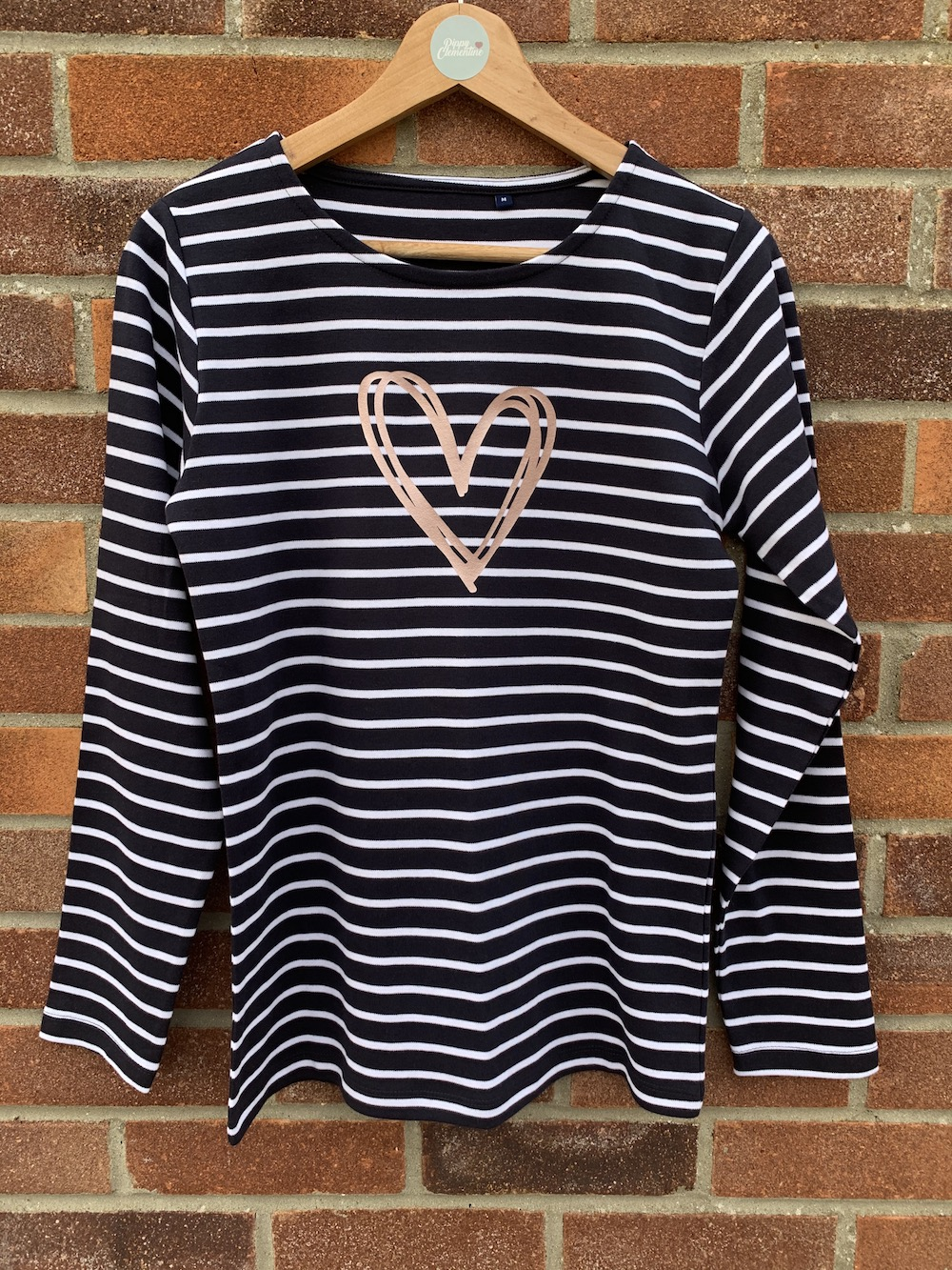Signature Heart Bretton Long Sleeve T-shirt – Navy