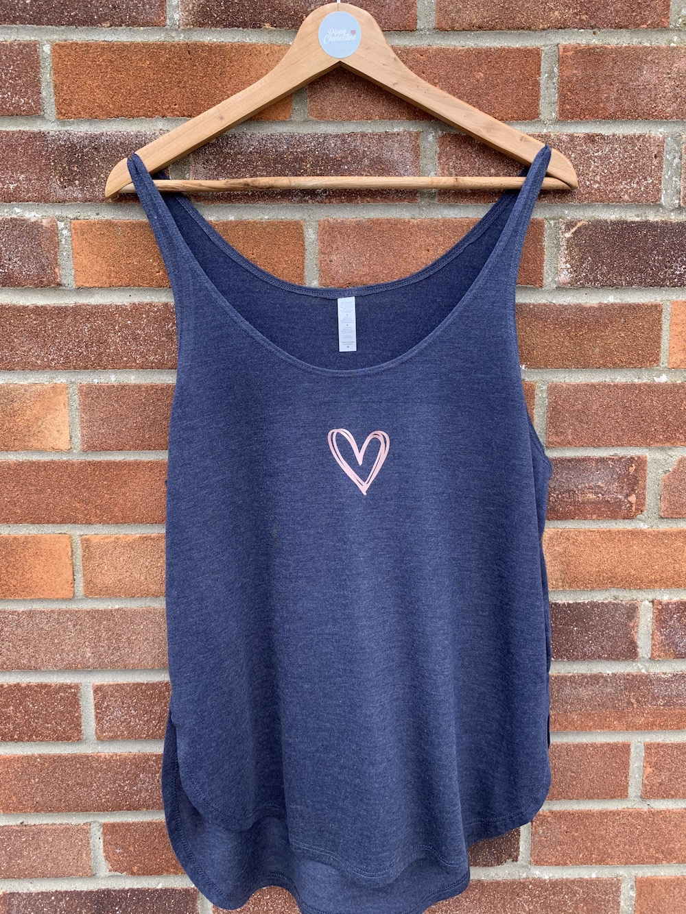 Loose Fit Heart Vest – Navy And Rose Gold