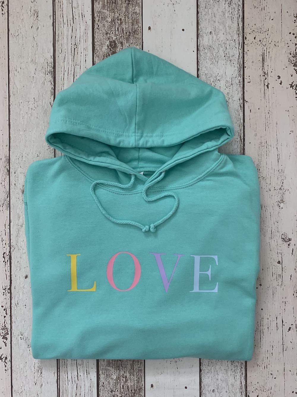 Love Summer Hoodie – Mint Green