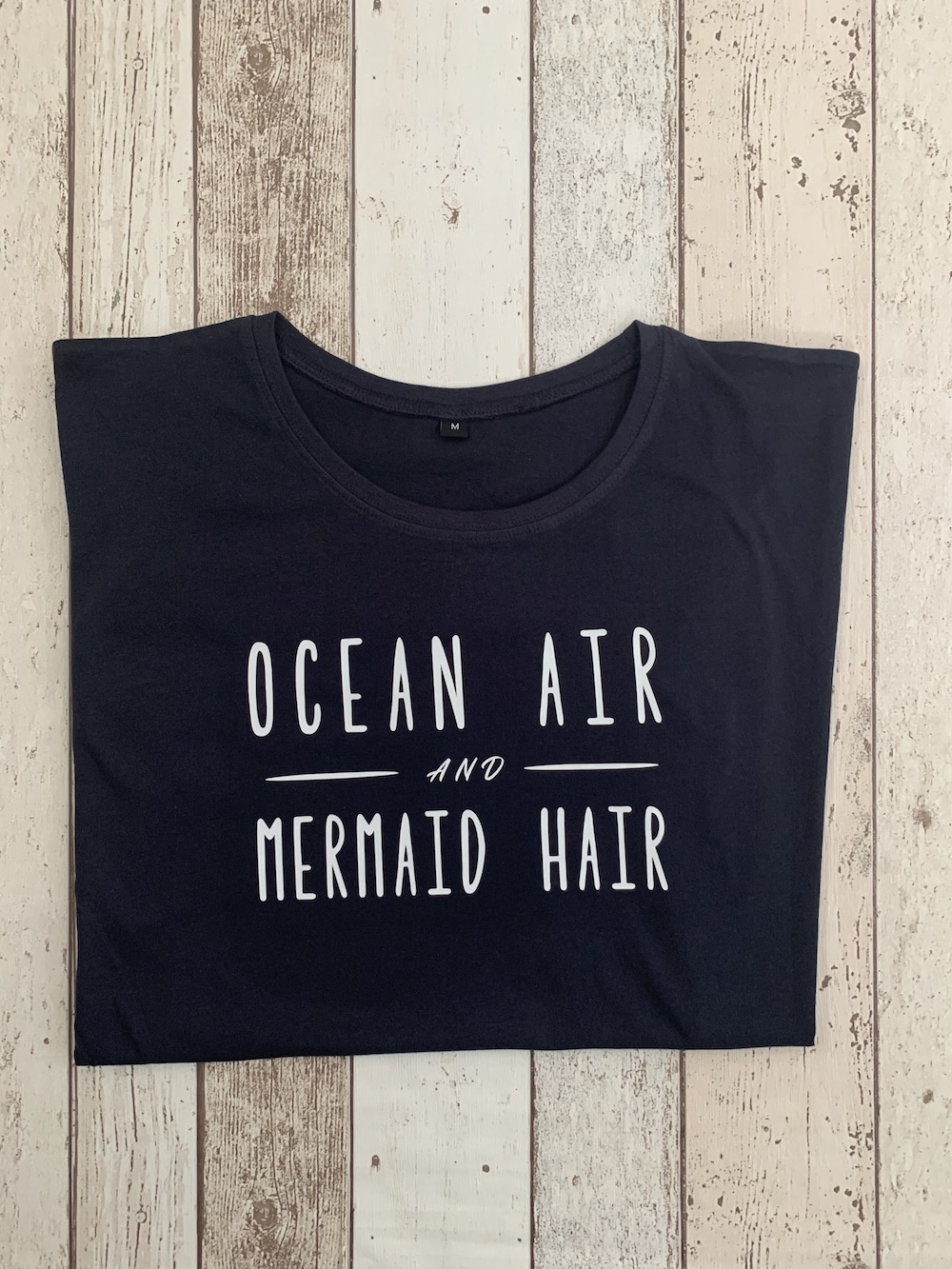 Ocean Air Tshirt – Navy And White