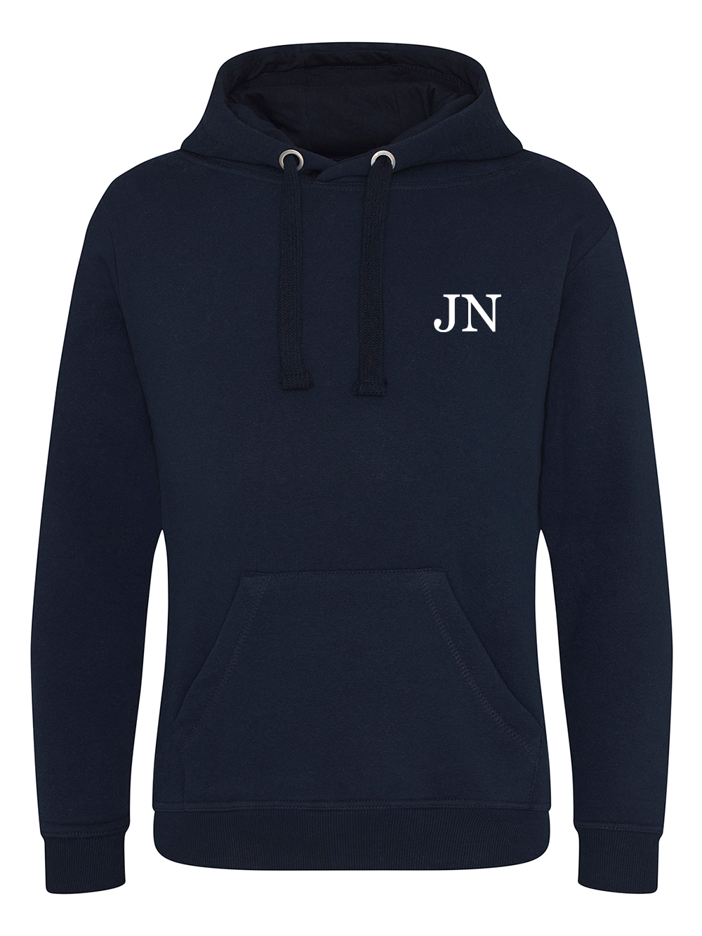 Mens Initial Hooded Jumper – Navy